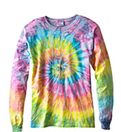 Custom Youth Tie Dye Multi Color Long Sleeve Tshirt