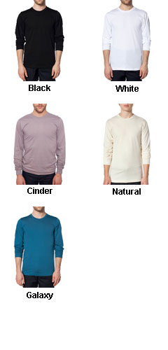 American Apparel Organic Fine Jersey Long Sleeve T-Shirt - All Colors