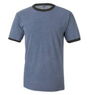 Custom Pigment-Dyed Enzyme Washed Ringer T-Shirt