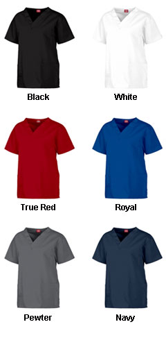 Dickies Medical Ladies V-Neck Scrub Top - In 8 Colors - All Colors