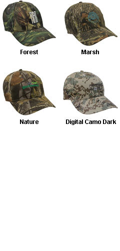 Cotton Twill Camo Cap - All Colors