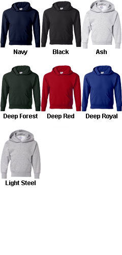 Hanes ComfortBlend� EcoSmart� Youth Hooded Sweatshirt - All Colors