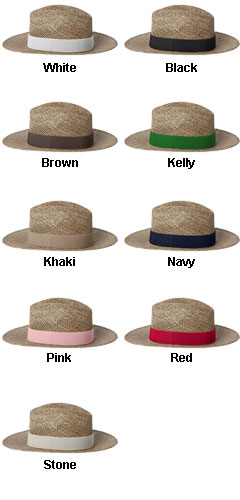 Gambler Straw Hat with Underbrim Sun Protection - All Colors