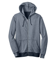 Mens Mini Stripe Full-Zip Hoodie