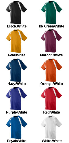 Augusta Youth Wicking Color Block Jersey  - All Colors