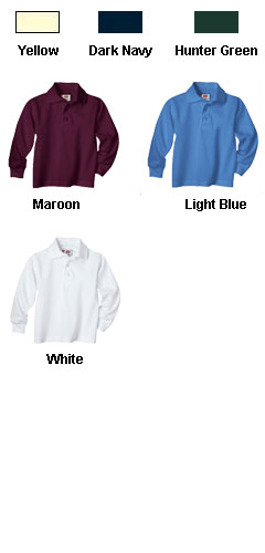 Kids Long Sleeve Pique Polo Shirt by Dickies - All Colors