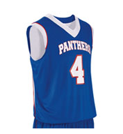Custom Teamwork Youth Finger Roll Reversible Basketball Jersey