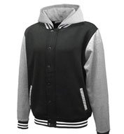 Varsity Fleece Hoodie with Removable Hood