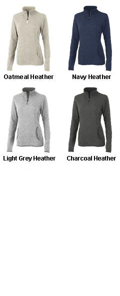 Ladies Soft Heathered Fleece Pullover By Charles River Apparel - All Colors