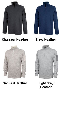 Mens Soft Heathered Fleece Pullover By Charles River Apparel - All Colors