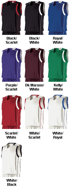 Holloway Mens Carthage Performance Basketball Jersey - All Colors
