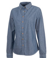 Womens Button Down Collar Chambray Shirt by Charles River
