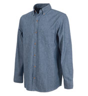 Mens Button Down Collar Chambray Shirt by Charles River