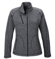 Custom Peak Ladies Sweater Fleece Jacket