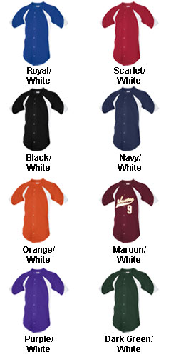 Teamwork Youth Mustang Full Button Baseball Jersey - All Colors