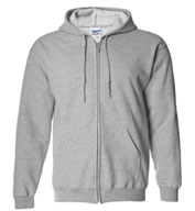 Custom Gildan Heavy Blend Mens Full Zip Hooded Sweatshirt