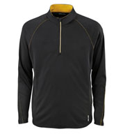 Custom Ash City Mens Half-Zip Performance Long Sleeve Top