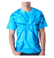 Custom Gildan Adult Tie-Dye Neon One-Color Pinwheel Tee