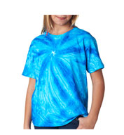 Gildan Youth Tie-Dye Neon One-Color Pinwheel Tee