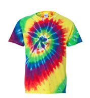 Custom Youth Tie-Dye Neon Pigment-Dyed Spiral Tee