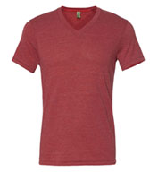 Custom Eco Jersey Feeder Stripe V-Neck T-Shirt Mens