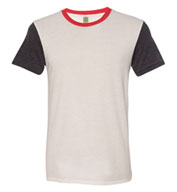 Alternative Apparel Eco-Jersey Colorblocked Crewneck T-Shirt