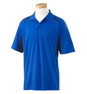Izod Mens Contrast Block Performance Dobby Polo