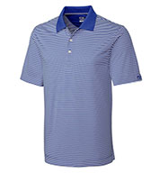 Custom Cutter & Buck Polo CB Drytec Trevor Stripe - Mens Big & Tall