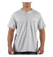 Custom Force� Cotton Short Sleeve Henley T-shirt by Carhartt Mens