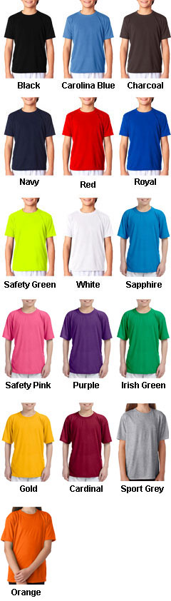 Gildan Youth Core Performance T-Shirt  - All Colors