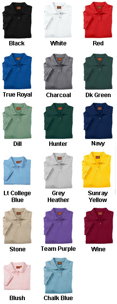 Ladies Ringspun Cotton Pique Short-Sleeve Polo - All Colors