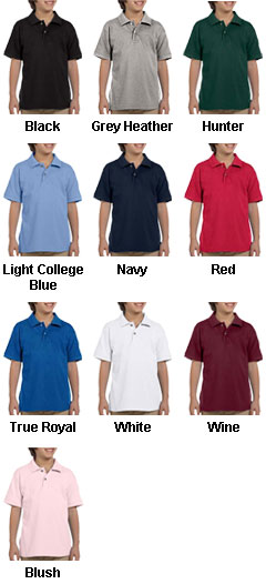 Youth Ringspun Cotton Pique Short-Sleeve Polo - All Colors