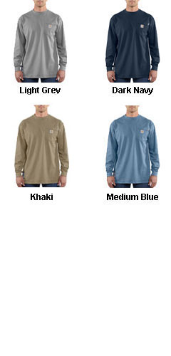 Flame Resistant Force Cotton Long Sleeve T-shirt by Carhartt - All Colors