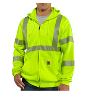 Custom Men�s ANSI 3 High-Visibility Zip-Front Sweatshirt Mens