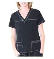 Custom Sporty V-Neck Top by Spectrum Uniforms