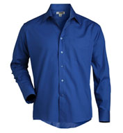 Custom Mens Long Sleeve Broadcloth Work Shirt