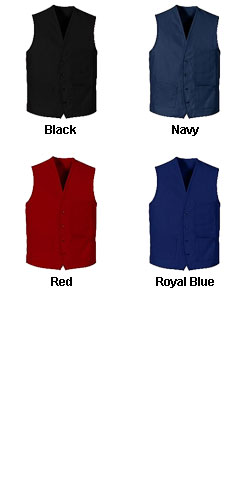 Button Front Apron Vest - All Colors