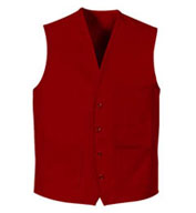 Custom Button Front Apron Vest