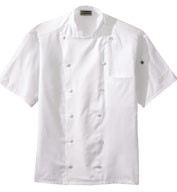 Twelve Button Lightweight Chef Coat with Mesh Back