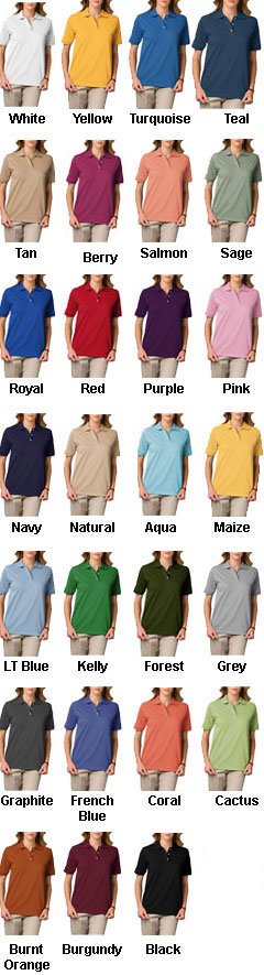Ladies Short Sleeve Superblend Polo  - All Colors
