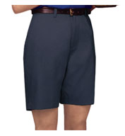 Custom Ladies Teflon Treated Twill Flat Front Shorts