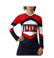 Girls Shock Figure Fit Cheer Top