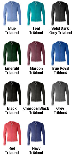 Bella + Canvas Unisex Triblend Lightweight Hoodie - All Colors