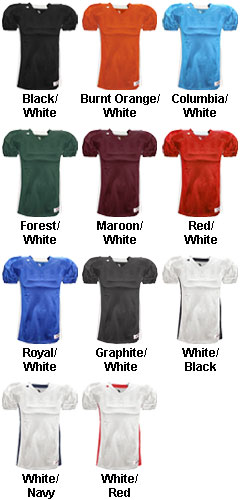 Badger Adult East Coast Football Jersey - All Colors