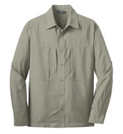 Custom Eddie Bauer® Long Sleeve Performance Travel Shirt
