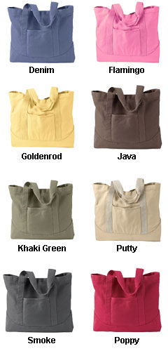 Pigment-Dyed Large Canvas Tote by Authetic Pigment - All Colors