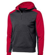 Custom Sport-Tek® - Colorblock Tech Fleece 1/4-Zip Hooded Sweatshirt Mens