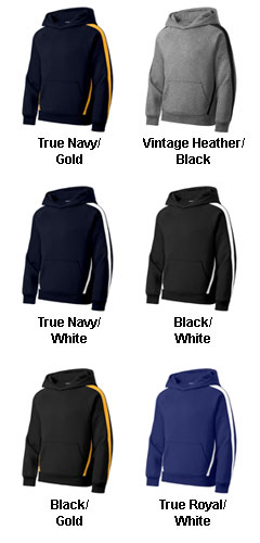 Sport-Tek� - Youth Sleeve Stripe Pullover Hooded Sweatshirt - All Colors