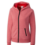 Ladies Fleece Full Zip Up Hoodie