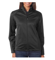 Custom UltraClub Ladies Water Resistant Soft Shell Jacket
